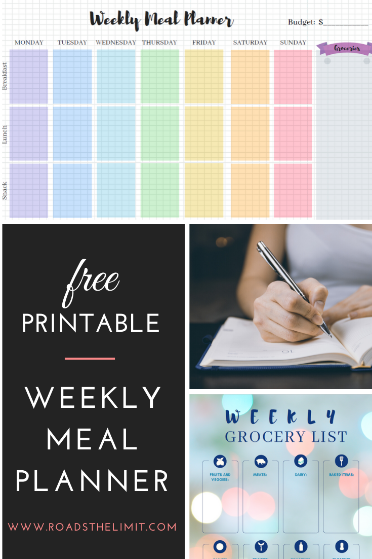 Download These Free Weekly Meal Planning Printables!