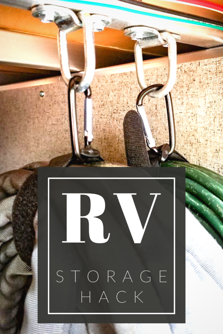 RV Storage Hack for Cables and Hoses